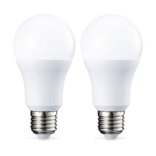 Amazon Basics E27 LED Lampe, 10W (ersetzt 75W), kaltweiß, 2er-Pack