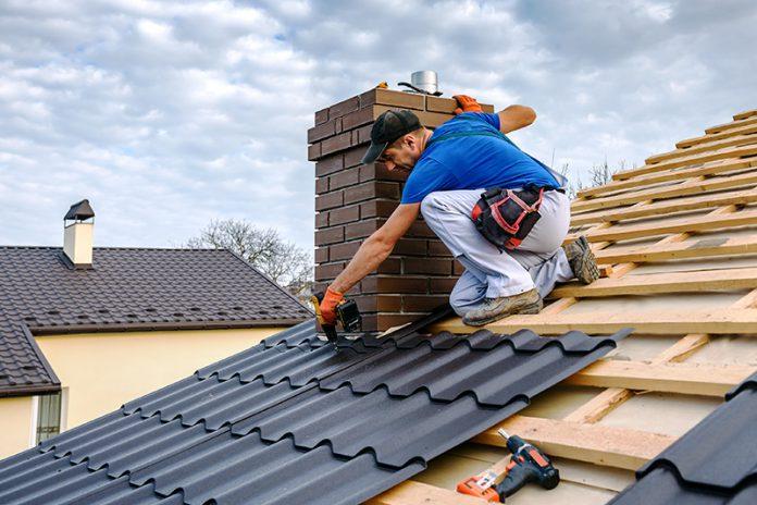 Dachdecker, Dach decken, Dachziegel