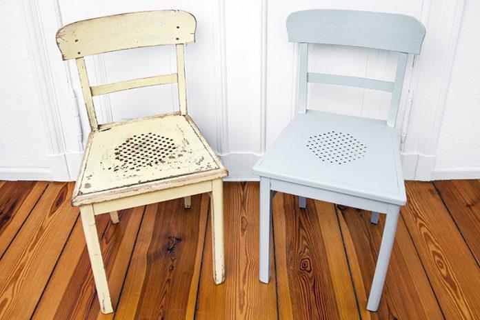 Oft möchte man Holzmöbel aufarbeiten, um alte Erinnerungen zu erhalten.