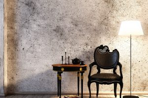 Seien Sie kreativ und verleihen Sie ihrem Wohnzimmer eine beondere Note: Zum Beispiel mit alten Möbeln oder Stücken um Vintage-Look.