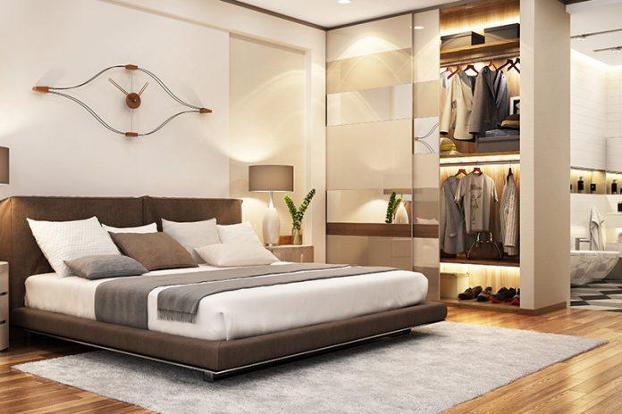 Verzichten Sie im Schlafzimmer auf grelle Farben. Setzen Sie vielmehr auf helle Rosatöne oder Erdfarben.