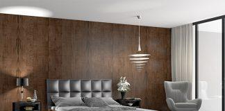 Eine Wandverkleidung aus Echtholz sorgt für ein gesundes Raumklima.