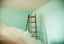 Wandfarbe, grüne Wand