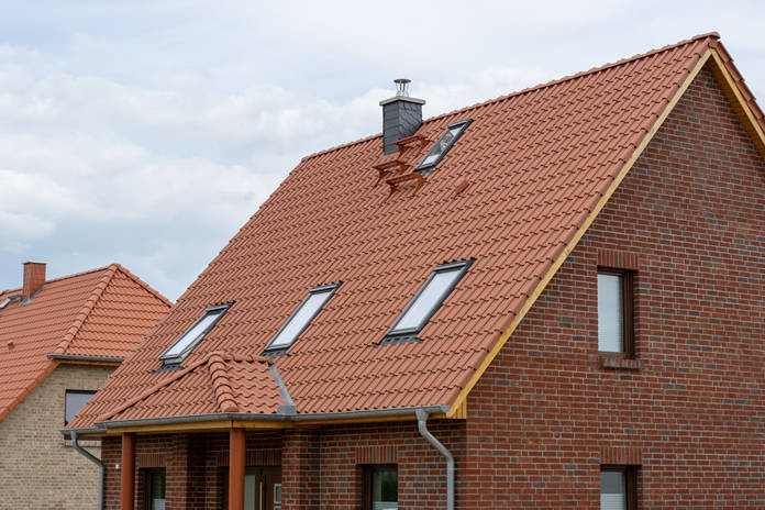 Haus mit Klinker, Klinkerfassade