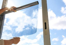 Spiegelglas, Fensterfolie